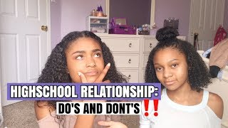 HIGHSCHOOL RELATIONSHIP DO'S AND DONT'S | ISSA RED FLAG🚫