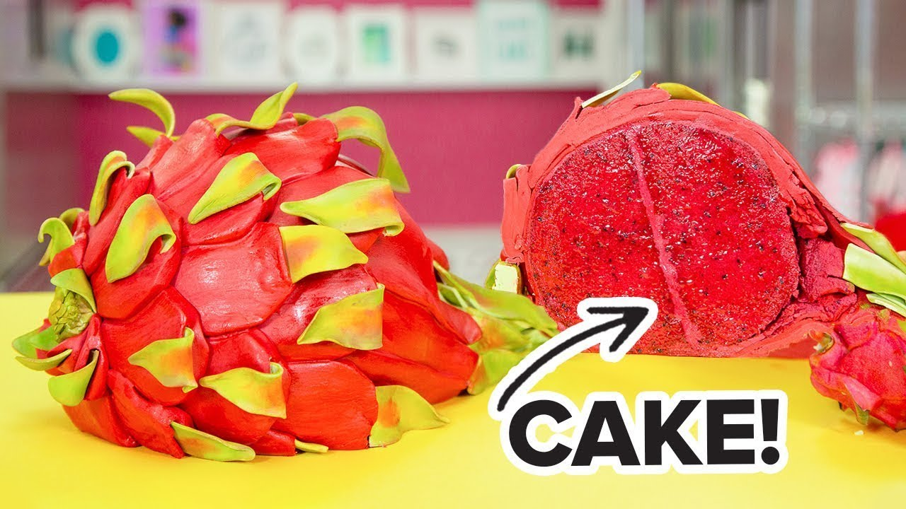 This dragon fruit is actually CAKE! | Everything Is Cake! | How To Cake It Step By Step