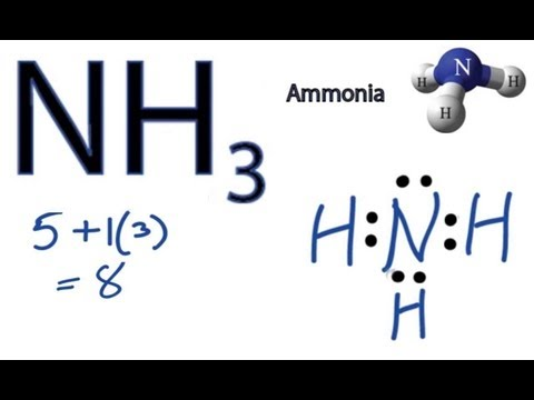 Nh3 Lewis Structure How To Draw The Dot Structure For Nh3 Youtube