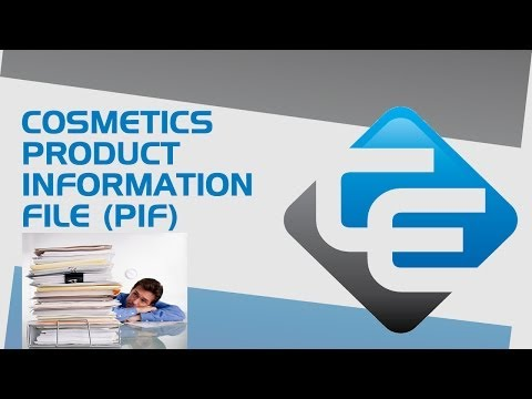 Cosmetics product information file (PIF)