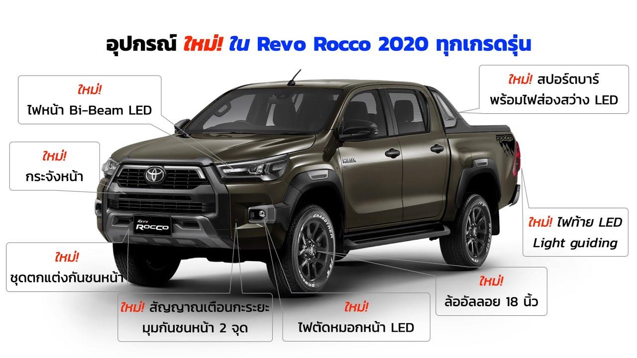 อุปกรณ์ใหม่ใน Revo Rocco 2020 ทุกเกรดรุ่น