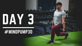 Day 3 - Back Squat + Hip Thrust + Lunges - 30 Days of Training (MIND PUMP)