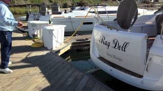 Jeanneau 509so electric transom with remote access By: Ian Van Tuyl at IVTyachtsales
