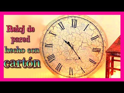 Manualidades reloj de pared hecho con cart n y la tecnica for Reloj de pared vintage 60cm