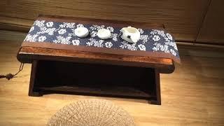 원목 접이식 티테이블