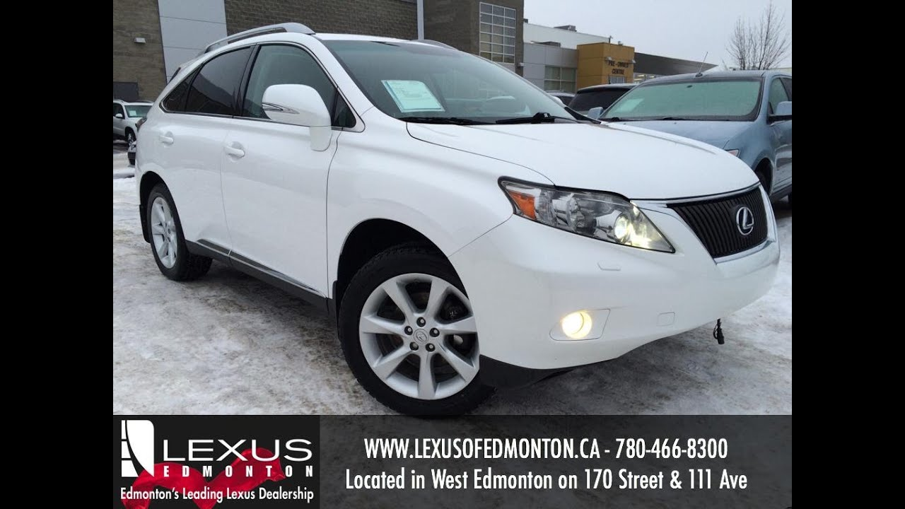 Used White 2010 Lexus RX 350 AWD Review | Stettler Alberta   YouTube