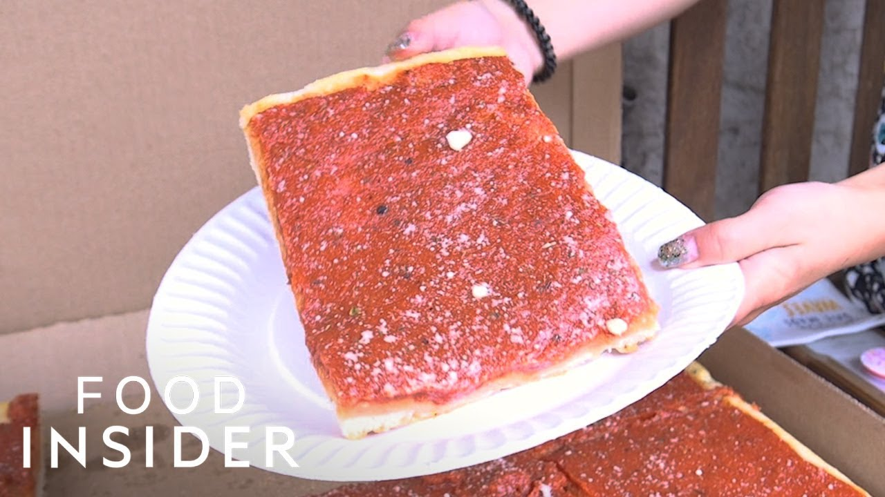 Does This Philadelphia Tomato Pie Count As Pizza Youtube