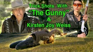 TRICK SHOTS With The GUNNY (R Lee Ermy) & Kirsten Joy Weiss  | Ep. 1