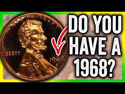 1968 LINCOLN PENNY VALUE - RARE PENNIES WORTH MONEY TO LOOK FOR!!