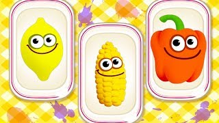 Baby Learn Colors Game - Baby Play Puzzles And Learn Fruits Vegetables With Funny Food 2