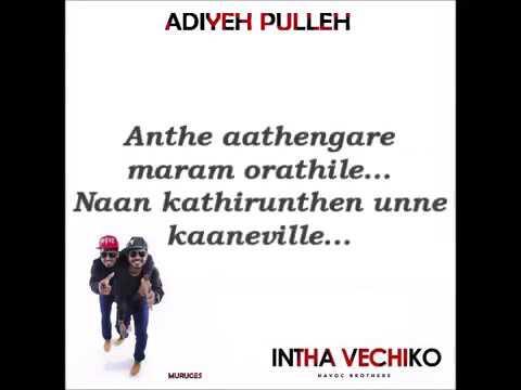 Adiye pulla | Lyrics video song | Havoc Brothers | J Jerald
