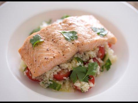 Salmon & Couscous Salad   Byron Talbott