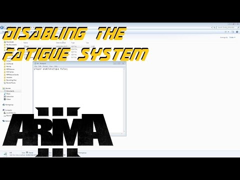 ARMA 3 Editor - Disabling the fatigue system