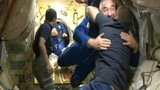 Hugging it out: US and Russian astronauts get along in space