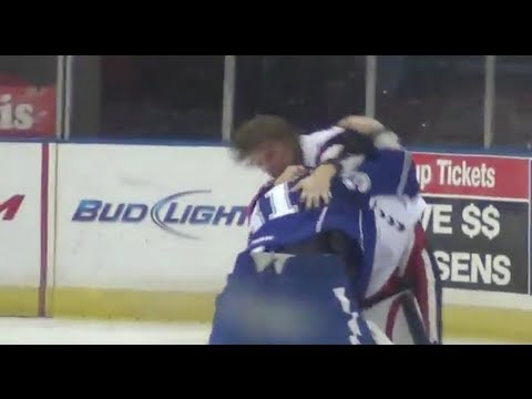 GOALIE FIGHT!!!!!
