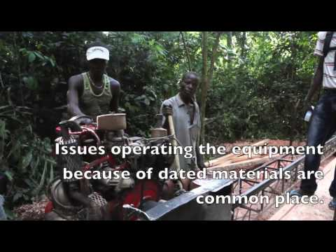 CongoVoice - Visiting a sawmill