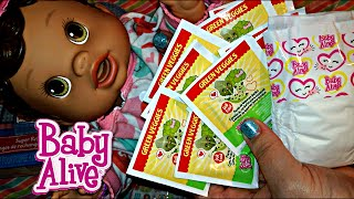 Baby Alive Super Refill Pack from Toys R Us with Green Veggies for Changing Time Baby Doll