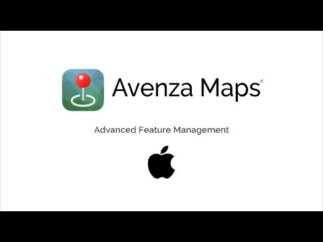 Avenza Maps Advanced Feature Management (iOS)