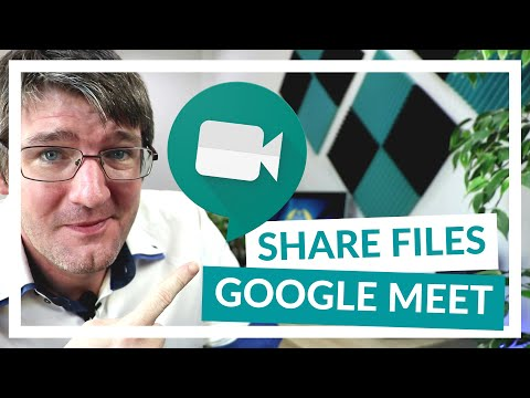 How to share files and attachments in Google Meet