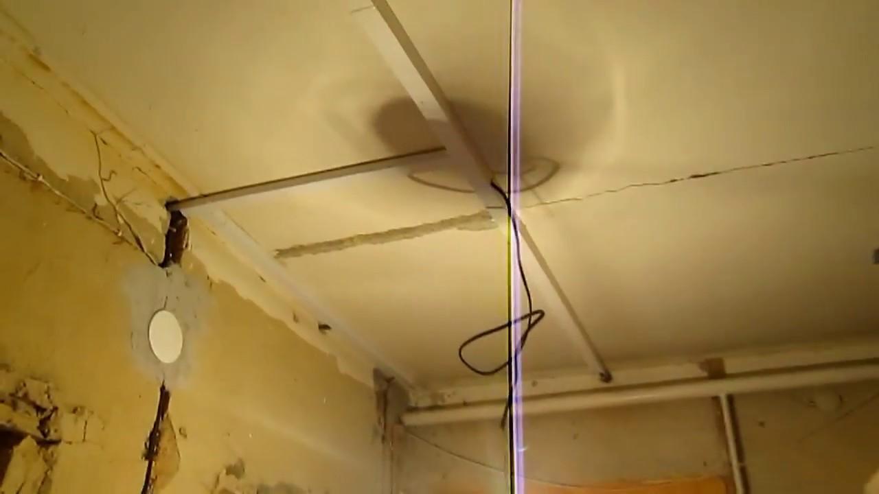Монтаж по потолку в кабель канале. Ч 2/2. - YouTube