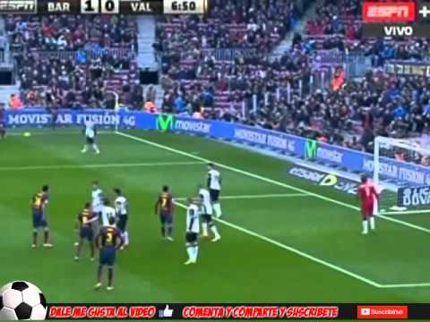 Golazo de Alexis Sánchez al Valencia ESPN+ (01 02 2014)