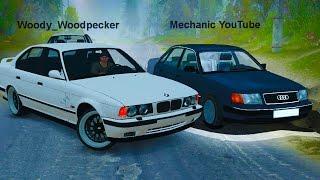 Сравнение AUDI 100 QUATTRO против BMW M5 - SPINTIRES