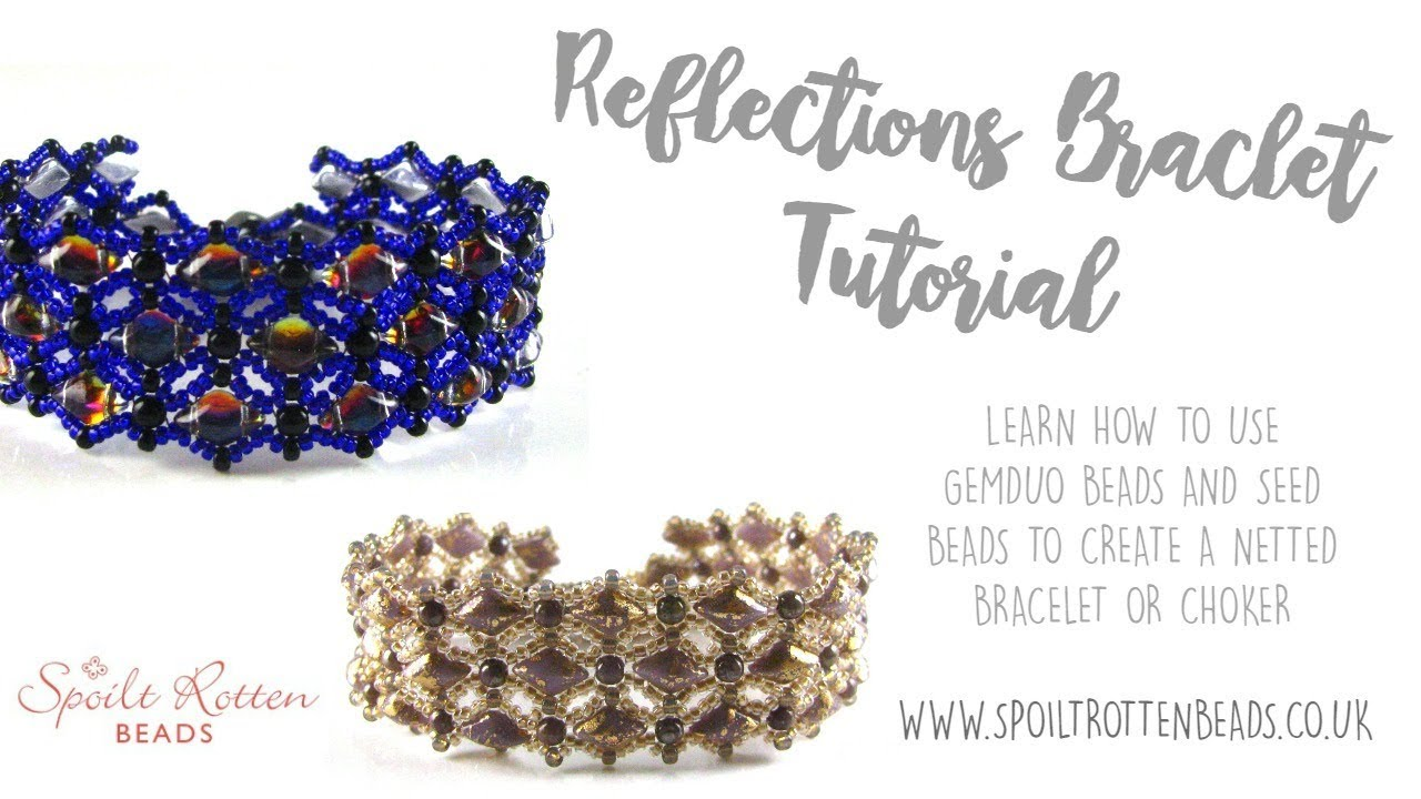 How to make the simple but elegant netted bracelet | netted.