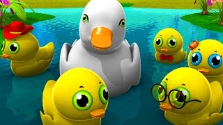 3D Five Little Ducks Went Out One Day - Children Nursery Rhymes I Baby Songs I Kindergarten Rhyme