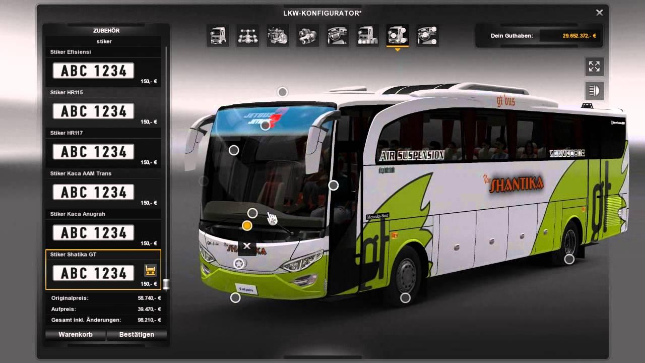 Ets 2 Bus Jetbus 2 Hd Sound Skins Interior 2015