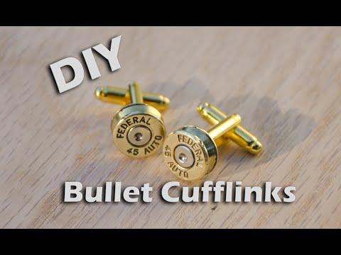 Diy Bullet Cufflinks From Brass Casings Metalproject Youtube