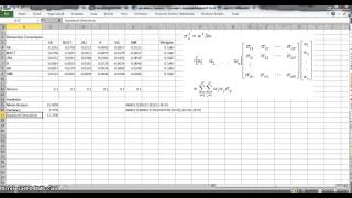calculating portfolio variance using the variance covariance matrix in excel