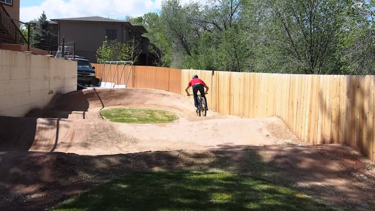 Backyard Pumptrack pro mountain biker - ross schnell on his backyard pump track - youtube