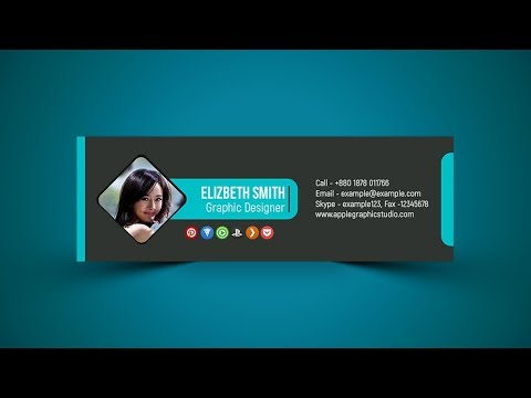 Professional Email Signature Design PSD - Photoshop Tutorial