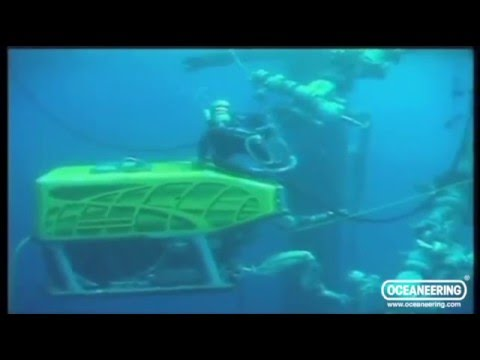 Diver and ROV at Work - Oceaneering