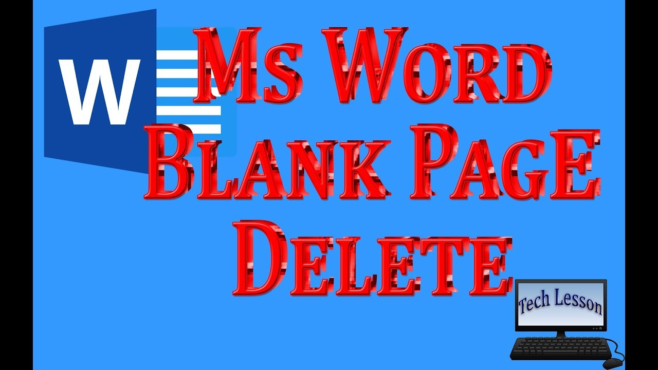 how to delete blank page in microsoft word