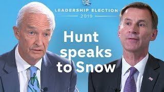 Jeremy Hunt on China/Hong Kong, why he should be PM and his record as Foreign Secretary