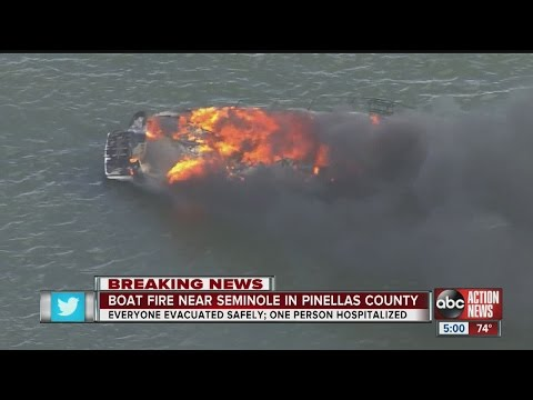 Boat fire near Bay Pines Boat Ramp sends one to hospital