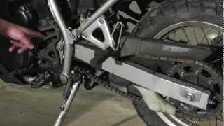 KLR 650 Maintenance: Chain Slack Adjustment