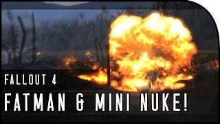 "Fallout 4 Gameplay Walkthrough Part 4 – ""FATMAN LOCATION , MINI NUKE , THE COMBAT SENTRY BOT!"""