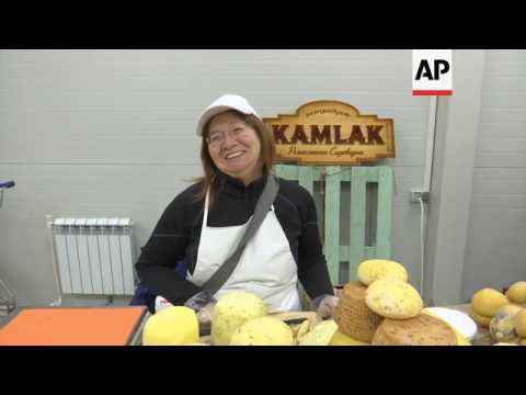 Russian dairy farmers show off cheeses