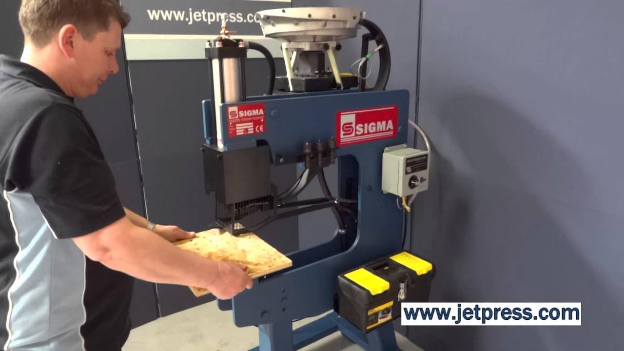 Sigma Rivet Teenut Insertion System From Jet Press T Nuts