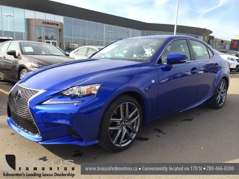 New Ultrasonic Blue 2015 Lexus Is 350 4dr Sdn Awd F Sport