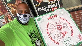 Papa John's NEW Shaq-a-Roni Pizza Review !!!