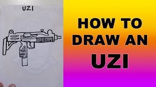 How to Draw an Uzi