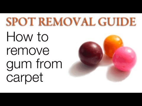 How to Get Gum out of Carpet | Spot Removal Guide - YouTube