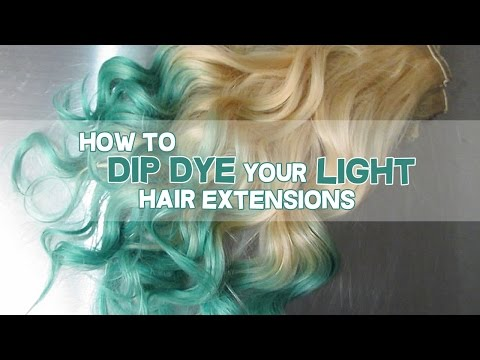Dying Human Hair Extensions With Manic Panic 88