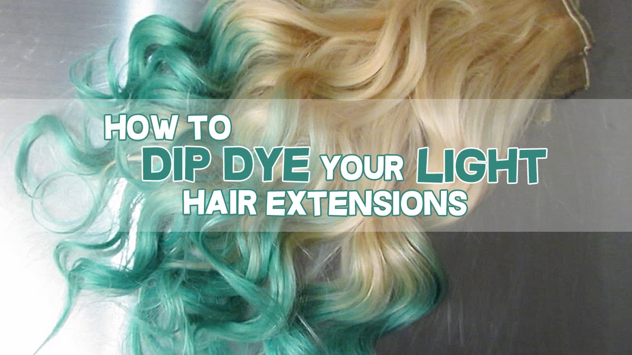 How To Dip Dye Your Blonde Hair Extensions Luxury For Princess
