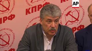 """Russia's Communist Party Candidate Says Election """"unfair"""""""