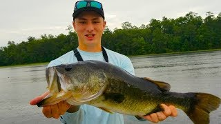 Fishing Backyard Secret Bass Pond!