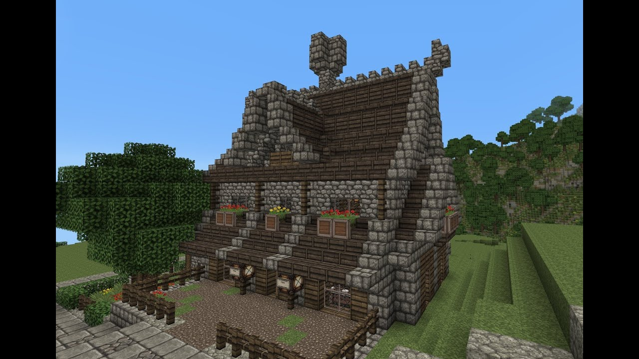 Minecraft gundahar tutorials medieval nordic house 2 for Classic house tutorial